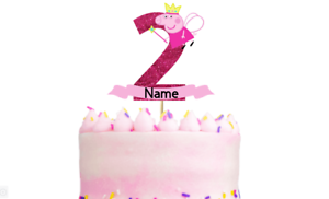 Awesome Personalised Peppa Pig Birthday Cake Topper Any Name And Age Funny Birthday Cards Online Overcheapnameinfo