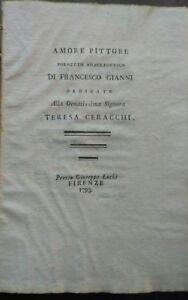 1793 Francesco Gianni Amore Pittore La Madre Ebrea Poema Per