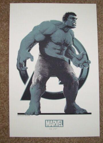 THE AVENGERS handbill poster INCREDIBLE HULK Variant art print Matt Ferguson