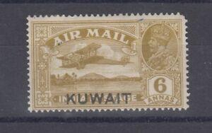 Kuwait-KGV-1933-6d-O-P-Airmail-MLH-J6508