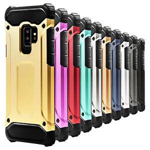 Pour-Samsung-Galaxy-S9-Housse-De-Telephone-Portable-Pare-chocs-en-Plastique-Dur-Robuste-Coque-Rigide