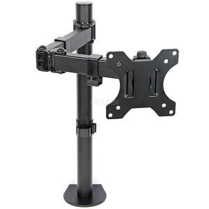 Monitor Tv Desk Mount Arm Clamp Stand 100mm Vesa Tilt Swivel Bracket