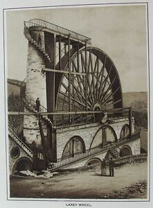 Old print isle of man laxey wheel c1900 water wheel antique view ebay image is loading old print isle of man laxey wheel c1900 publicscrutiny Choice Image