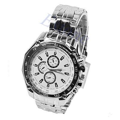 Luxury Men's Wrist Watch Sport Stainless Steel Quartz Analog Watches
