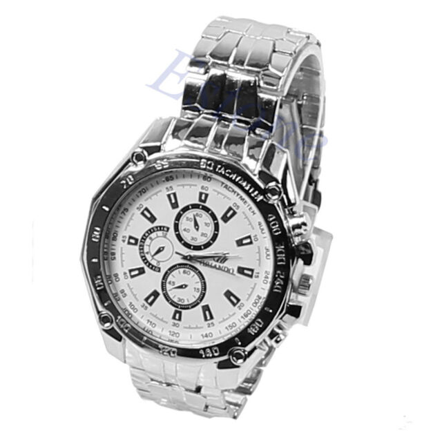 Luxury Men's Wrist Watch Sport Stainless Steel Quartz Analog Watches
