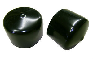 "Lot of 2 Black Plastic Caps  - Fits 1-1/2"" OD Tubing - Flexible End Cap 1.50"""