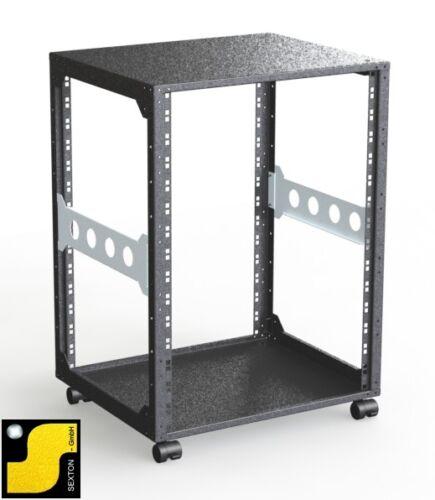 """19 Zoll 19/"""" 440mm Tiefe -48,3cm Standverteiler B Rack Magic 15HE Rackrahmen"""