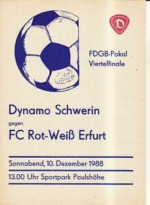 FDGB-Pokal-88-89-Dynamo-Schwerin-FC-Rot-Weiss-Erfurt-10-12-1988