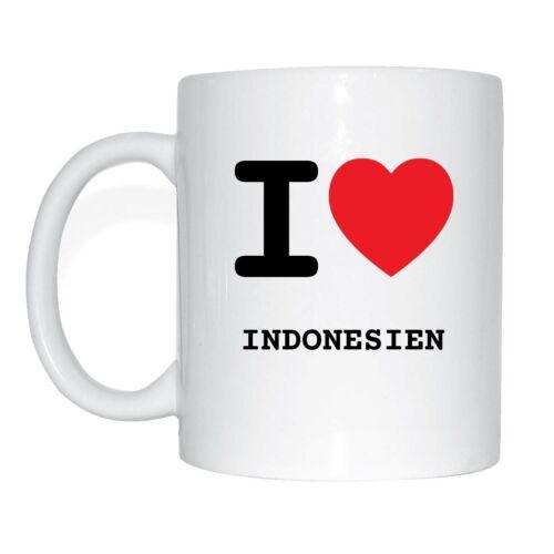 I LOVE Indonésie tasse de café tasse