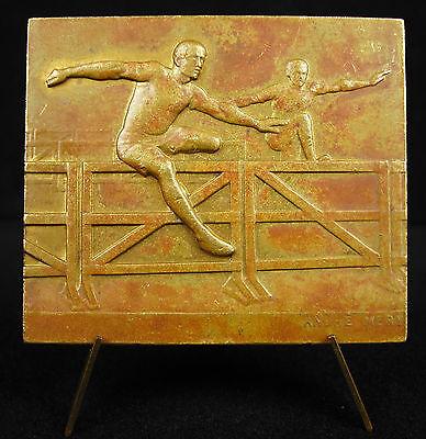 Discreet Médaille 110 Mètres Haies Meters Hurdle D'athlétisme André Méry 1930 Sport Medal Gemakkelijk Te Repareren