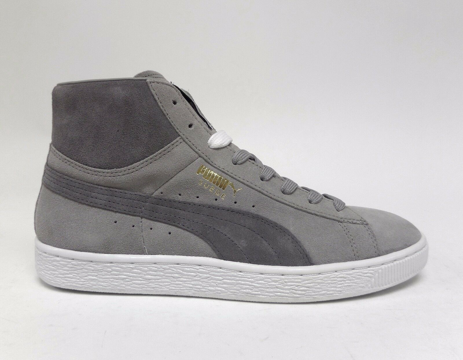 caaa59f8fe638 Puma Men s SUEDE MID CLASSIC+ shoes Drizzle Drizzle Drizzle Steel Grey  White 356340-16 a