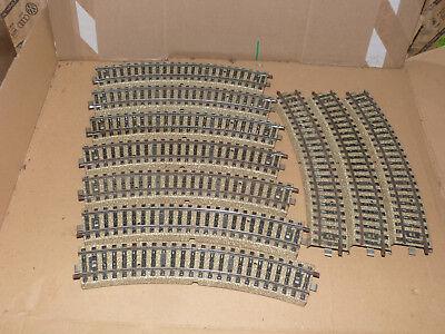 Märklin 5100 12 Stück gebogenes Gleis M-Gleis Spur H0