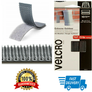 10 pcs VELCRO Brand Industrial Heavy Duty Strength Extreme Outdoor Indoor Strips