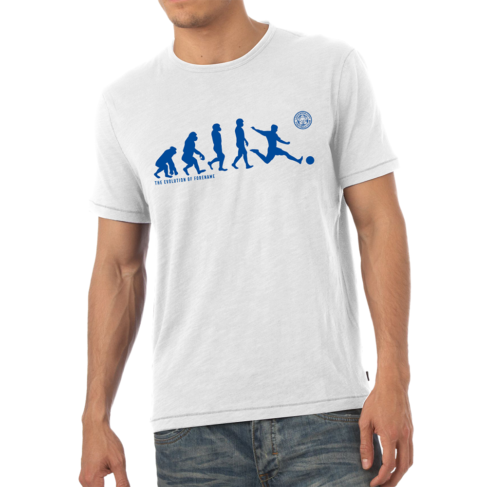 Leicester City F.C - Personalised Mens T-Shirt (EVOLUTION)