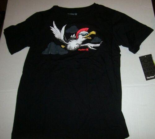 New Hurley black bird t shirt pick sz medium or large boys youth