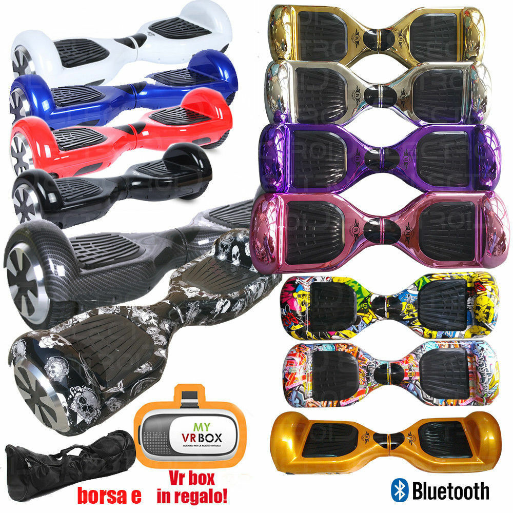 OVERBOARD 6.5 HOVERBOARD LUCI LED BT SELF BALANCE ColoreeeeeI