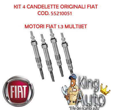 KIT 4 CANDELETTE ORIGINALI FIAT 55210051 FIAT PUNTO EVO 199 1.3 D MJET 70 KW
