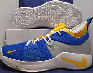 d0b8276da616 Nike PG 2 iD Grey Blue Gold White Paul George SZ 14 ( CI0280-991 ...