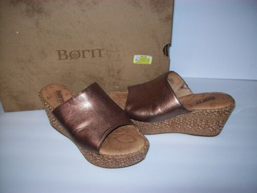 Born~Women's TILDA Bronze Metallic Sandal Shoe 6