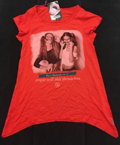 Original Boom Bap T-Shirt rot Motiv Frontprint S Hemd Polo kurzarm