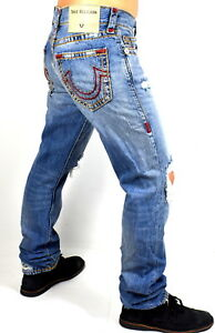 True-Religion-349-Men-039-s-Geno-Relaxed-Slim-Super-T-Jeans-100372