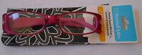 +1.25 Personal Optics Reading Glasses Black & Pink Frame Black & White Case