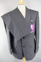 Balmain Pure Wool Black Pinstriped Suit Chest 38 (short)/waist 36:rrp £279