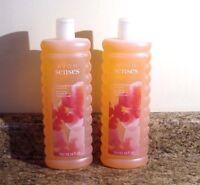 Avon Bubble Bath 24 Oz. Lot Of 2 Orange And Honeysuckle Sealed