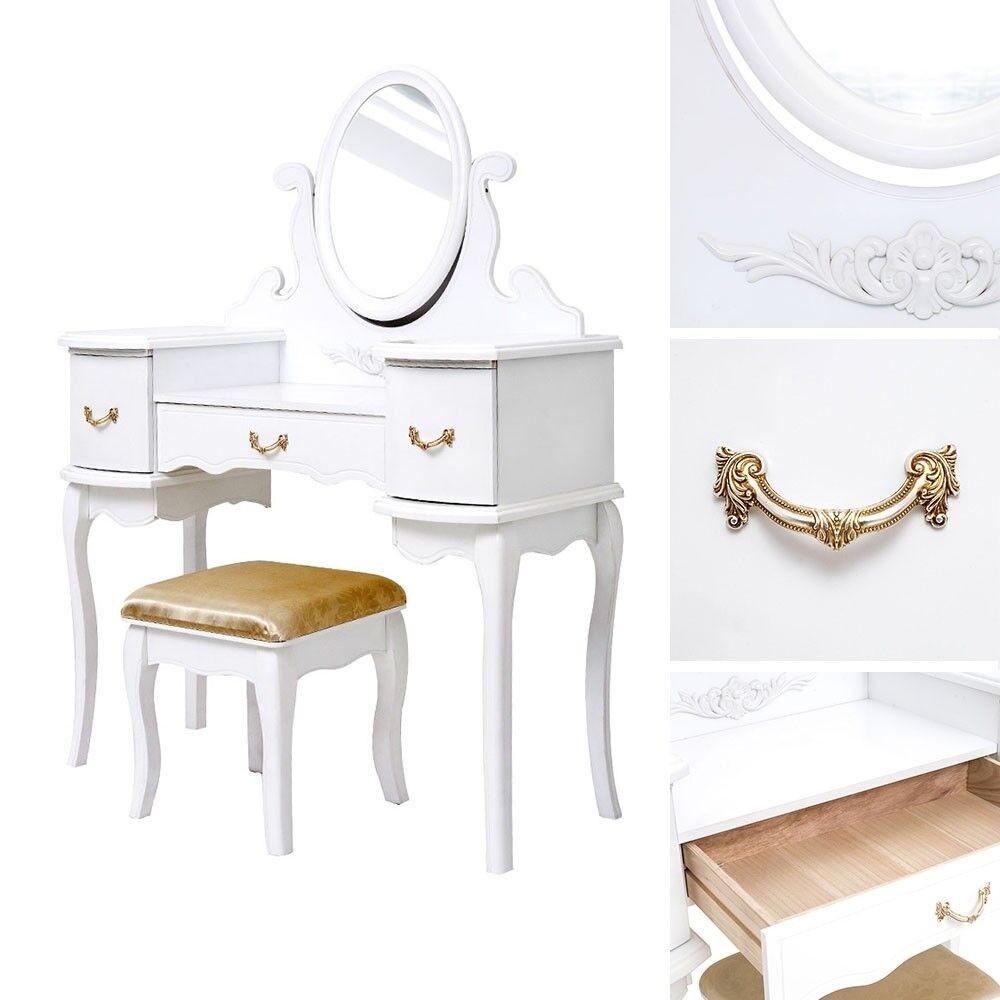 Table de maquillage commode de type d'ustensile table un maquillage commode avec miroir + tabouret