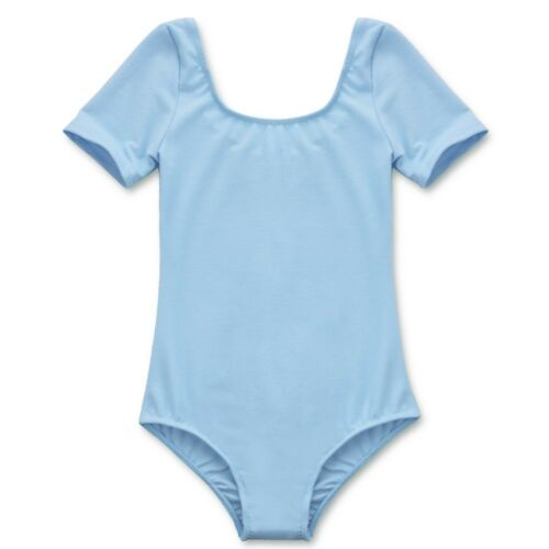 Girl Kids Short Sleeve Classic Leotard Ballet Gymnastics Dance wear Gym Bodysuit