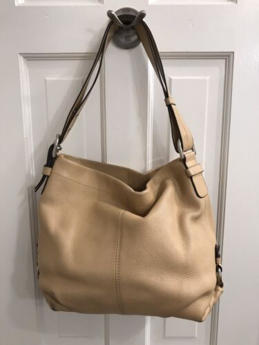 COACH blonde leather shoulder bag