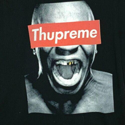 THUPREME TOON Tee Shirt Black Medium Mike Tyson