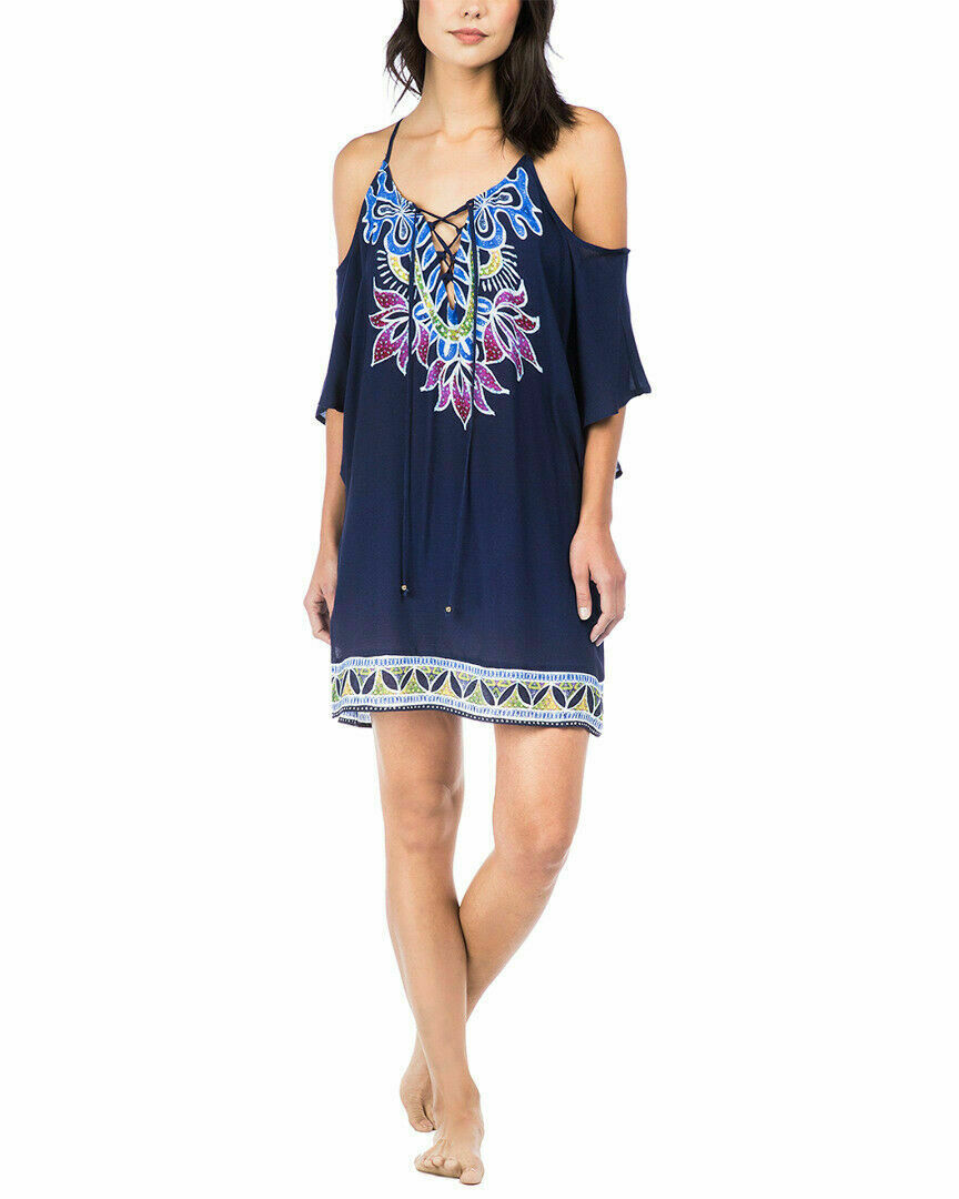 Trina Turk damen  Lotus Batik Off-The-Shoulder Cover-Up Größe XSNWT