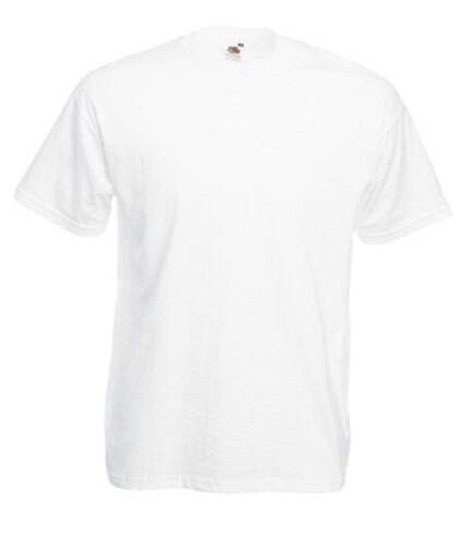 30 Fruit Of The Loom Cheap Plain Weiß Cotton Tee T-Shirts No Logo WHOLESALE