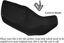 CARBON FIBRE VINYL CUSTOM FITS HONDA XL 1000 V VARADERO 99-07 DUAL SEAT COVER