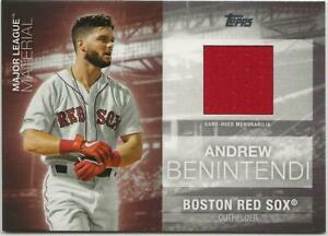 Details about 2020 Topps Series 1 ANDREW BENINTENDI Major League Material Red Sox Jersey Red
