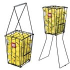 Wilson Tennis Ball Pick Up Hopper Training Aid Portable 75 Balls Metal Stand