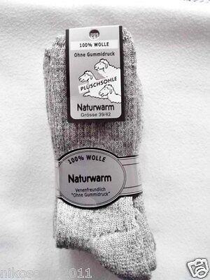 3 Paar-100 % Schafwollsocken ohne Gummidruck sehr Venenfreundlich, uni, wowerat