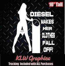 Diesel makes her * Vinyl decal Sticker Powerstroke Truck Stacks 2500 duramax