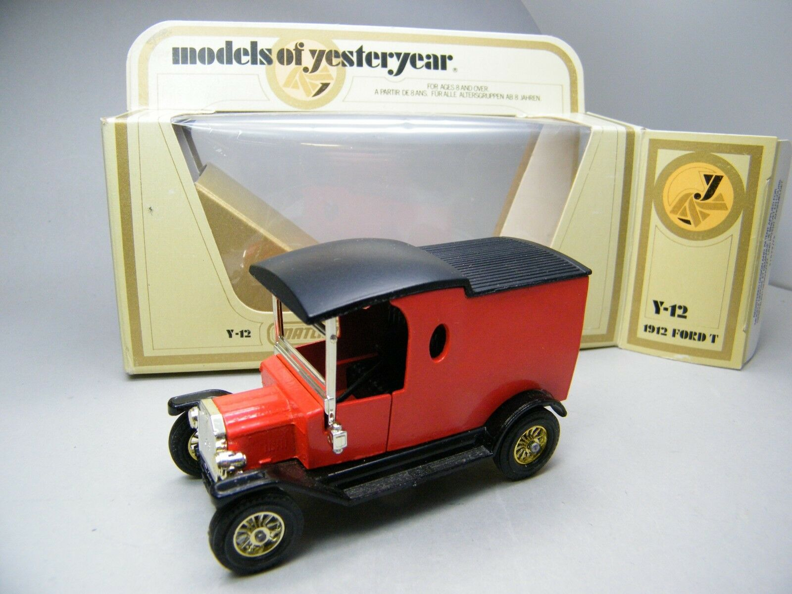 Matchbox MOY c2 y-12 Ford T, Arnotts ohne Stickers Lunch Time Sehr selten Boxed k22