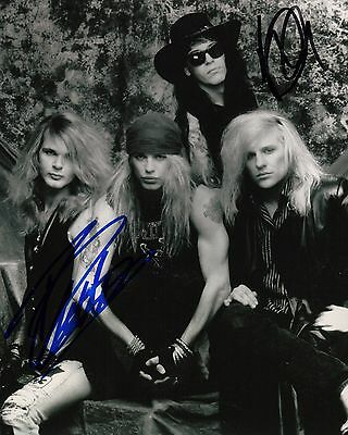 Poison Band Signed 8x10 Photo Proof Ad3 Coa Rich In Poetic And Pictorial Splendor Hospitable Gfa Rikki Rockett & Bobby Dall