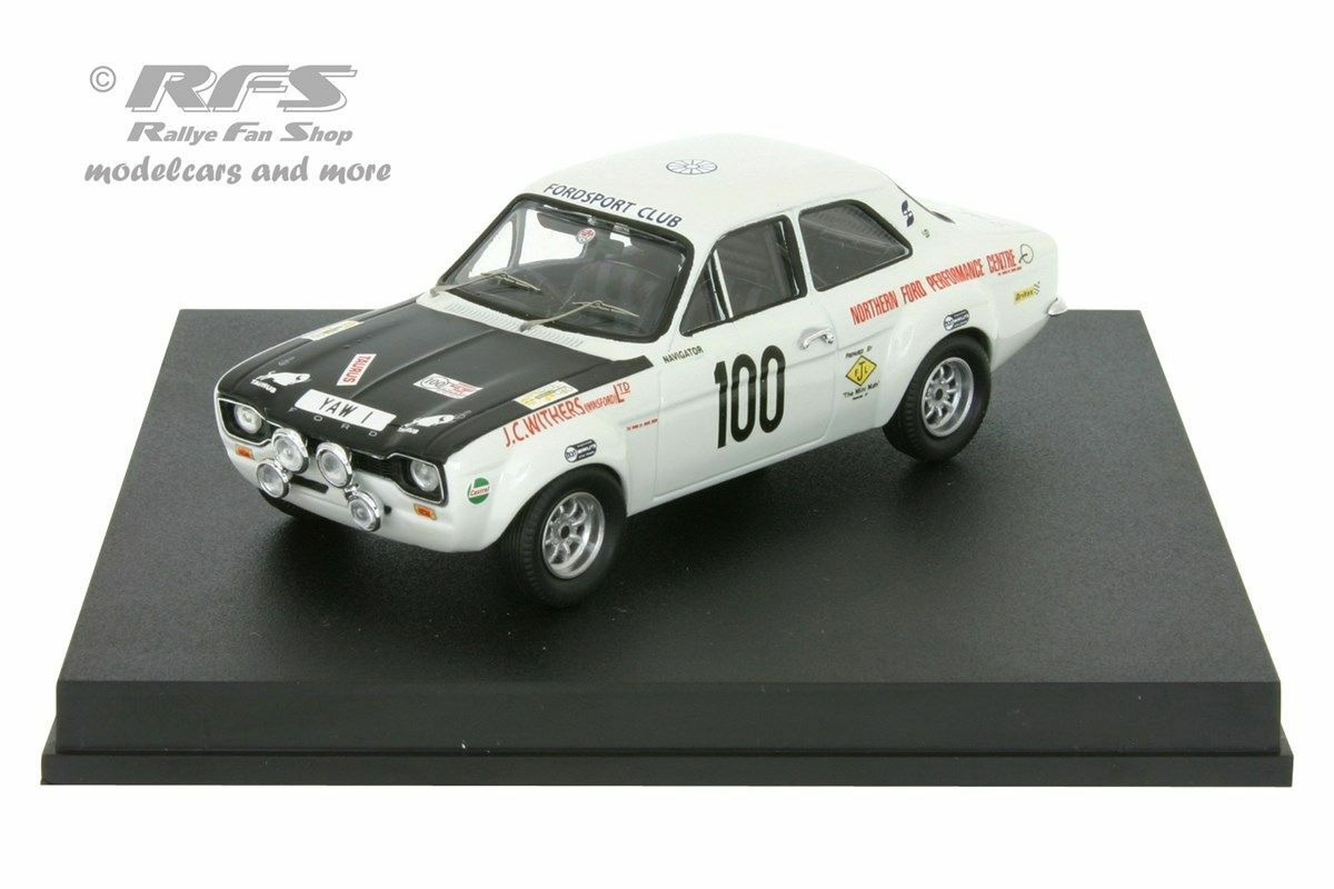 FORD ESCORT RS 1600 Mk I-MANX RALLYE 1971-withers ADAMS - 1 43 TROFEU 0552