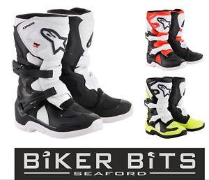 ALPINESTARS TECH 3s Kids Stivali Bambini Motocross Enduro Stivali Nero//Bianco//Giallo