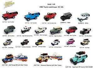 1-64-Johnny-Lightning-1980-Toyota-Land-Cruiser-Diecast-Model-Different-Colors