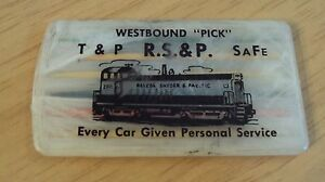 """RARE Toothpick Holder~""""ROSCOE SNYDER & PACIFIC RAILWAY"""" Train Collectible~"""
