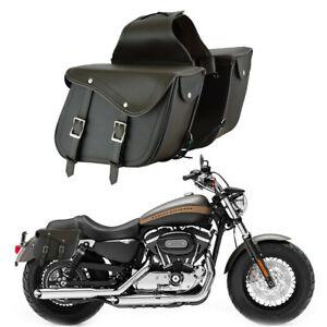 Moto-Motocicleta-Equipaje-De-Cuero-Silla-Bolsa-Bolsa-Sillin-Caja-de-Herramientas-Impermeable