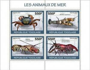 TOGO-Animaux-marins-4-Timbre-Feuille-20H-007