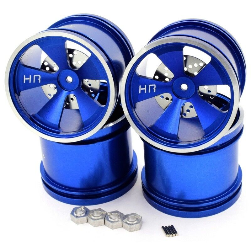 Hot Racing MLT40506 Losi Mini LST Hot Racing blu Aluminum 5 Spoke Wheels  4