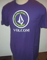 Volcom Purple With White Green Logo T Shirt M Medium L Large Xl