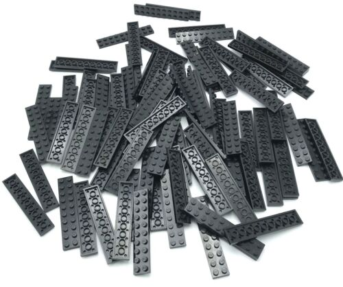 LEGO LOT OF100 2 X 10 BLACK PLATES BUILDING BLOCKS PIECES PARTS